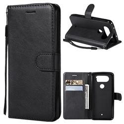 Retro Greek Classic Smooth PU Leather Wallet Phone Case for LG Q8(2017, 5.2 inch) - Black