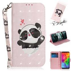 Heart Cat 3D Painted Leather Wallet Phone Case for LG Q8(2018, 6.2 inch)