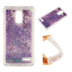Dynamic Liquid Glitter Sand Quicksand Star TPU Case for LG Stylus 3 Stylo3 K10 Pro LS777 M400DK - Purple