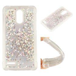 Dynamic Liquid Glitter Sand Quicksand Star TPU Case for LG Stylus 3 Stylo3 K10 Pro LS777 M400DK - Silver