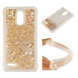 Dynamic Liquid Glitter Sand Quicksand Star TPU Case for LG Stylus 3 Stylo3 K10 Pro LS777 M400DK - Diamond Gold