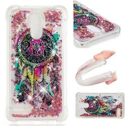 Seal Wind Chimes Dynamic Liquid Glitter Sand Quicksand Star TPU Case for LG Stylus 3 Stylo3 K10 Pro LS777 M400DK