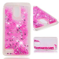 Dynamic Liquid Glitter Quicksand Sequins TPU Phone Case for LG Stylus 3 Stylo3 K10 Pro LS777 M400DK - Rose