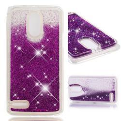Dynamic Liquid Glitter Quicksand Sequins TPU Phone Case for LG Stylus 3 Stylo3 K10 Pro LS777 M400DK - Purple