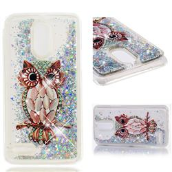 Seashell Owl Dynamic Liquid Glitter Quicksand Soft TPU Case for LG Stylus 3 Stylo3 K10 Pro LS777 M400DK