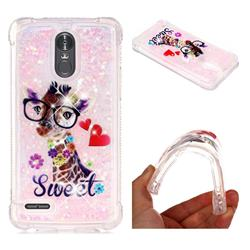 Sweet Deer Dynamic Liquid Glitter Sand Quicksand Star TPU Case for LG Stylus 3 Stylo3 K10 Pro LS777 M400DK