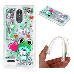 Heart Frog Lion Dynamic Liquid Glitter Sand Quicksand Star TPU Case for LG Stylus 3 Stylo3 K10 Pro LS777 M400DK