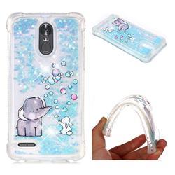 Bubble Jumbo Rabbit Dynamic Liquid Glitter Sand Quicksand Star TPU Case for LG Stylus 3 Stylo3 K10 Pro LS777 M400DK