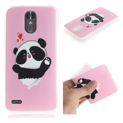 Heart Cat IMD Soft TPU Cell Phone Back Cover for LG Stylus 3 Stylo3 K10 Pro LS777 M400DK