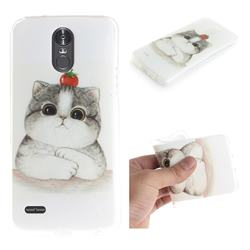 Cute Tomato Cat IMD Soft TPU Cell Phone Back Cover for LG Stylus 3 Stylo3 K10 Pro LS777 M400DK