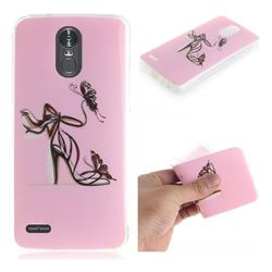Butterfly High Heels IMD Soft TPU Cell Phone Back Cover for LG Stylus 3 Stylo3 K10 Pro LS777 M400DK