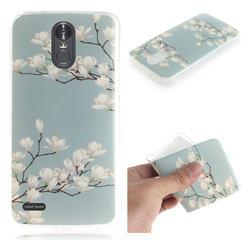 Magnolia Flower IMD Soft TPU Cell Phone Back Cover for LG Stylus 3 Stylo3 K10 Pro LS777 M400DK