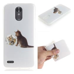 Cat and Tiger IMD Soft TPU Cell Phone Back Cover for LG Stylus 3 Stylo3 K10 Pro LS777 M400DK