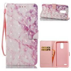 Pink Marble 3D Painted Leather Wallet Case for LG Stylus 3 Stylo3 K10 Pro LS777 M400DK