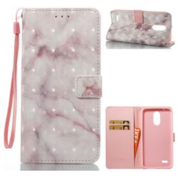 Beige Marble 3D Painted Leather Wallet Case for LG Stylus 3 Stylo3 K10 Pro LS777 M400DK