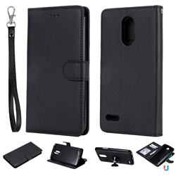 Retro Greek Detachable Magnetic PU Leather Wallet Phone Case for LG Stylus 3 Stylo3 K10 Pro LS777 M400DK - Black