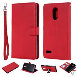 Retro Greek Detachable Magnetic PU Leather Wallet Phone Case for LG Stylus 3 Stylo3 K10 Pro LS777 M400DK - Red