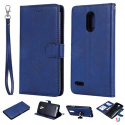 Retro Greek Detachable Magnetic PU Leather Wallet Phone Case for LG Stylus 3 Stylo3 K10 Pro LS777 M400DK - Blue