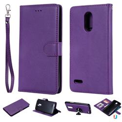Retro Greek Detachable Magnetic PU Leather Wallet Phone Case for LG Stylus 3 Stylo3 K10 Pro LS777 M400DK - Purple