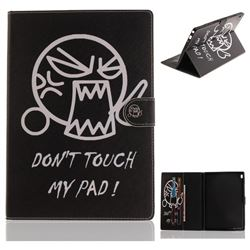 Do Not Touch Me Painting Tablet Leather Wallet Flip Cover for Lenovo Tab4 10 (Lenovo TB-X304F/L)
