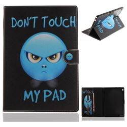Not Touch My Phone Painting Tablet Leather Wallet Flip Cover for Lenovo Tab4 10 (Lenovo TB-X304F/L)