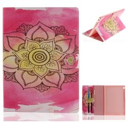 Pink Rose Painting Tablet Leather Wallet Flip Cover for Lenovo Tab4 10 (Lenovo TB-X304F/L)