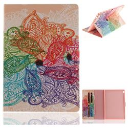 Magic Flower Painting Tablet Leather Wallet Flip Cover for Lenovo Tab4 10 (Lenovo TB-X304F/L)
