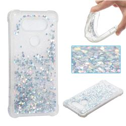 Dynamic Liquid Glitter Sand Quicksand Star TPU Case for LG V20 - Silver