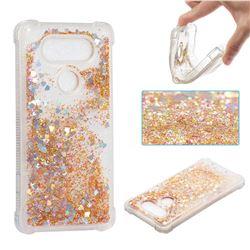 Dynamic Liquid Glitter Sand Quicksand Star TPU Case for LG V20 - Diamond Gold