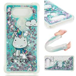 Tiny Unicorn Dynamic Liquid Glitter Sand Quicksand Star TPU Case for LG V20