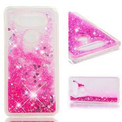 Dynamic Liquid Glitter Quicksand Sequins TPU Phone Case for LG V20 - Rose