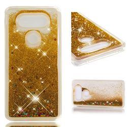 Dynamic Liquid Glitter Quicksand Sequins TPU Phone Case for LG V20 - Golden