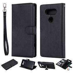 Retro Greek Detachable Magnetic PU Leather Wallet Phone Case for LG V20 - Black