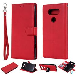 Retro Greek Detachable Magnetic PU Leather Wallet Phone Case for LG V20 - Red