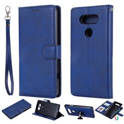 Retro Greek Detachable Magnetic PU Leather Wallet Phone Case for LG V20 - Blue