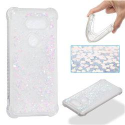 Dynamic Liquid Glitter Sand Quicksand Star TPU Case for LG V30 - Pink