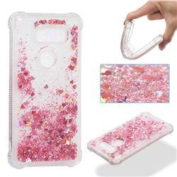 Dynamic Liquid Glitter Sand Quicksand Star TPU Case for LG V30 - Diamond Rose