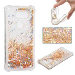 Dynamic Liquid Glitter Sand Quicksand Star TPU Case for LG V30 - Diamond Gold