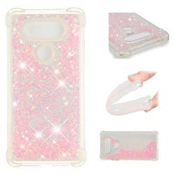 Dynamic Liquid Glitter Sand Quicksand TPU Case for LG V30 - Silver Powder Star