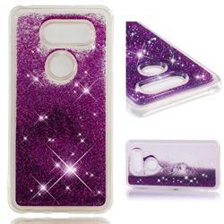 Dynamic Liquid Glitter Quicksand Sequins TPU Phone Case for LG V30 - Purple