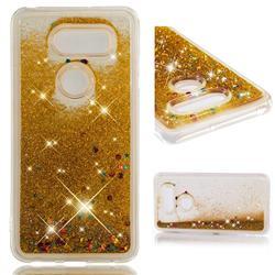 Dynamic Liquid Glitter Quicksand Sequins TPU Phone Case for LG V30 - Golden
