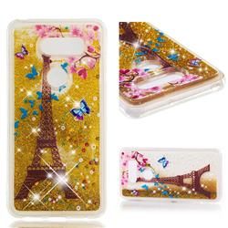 Golden Tower Dynamic Liquid Glitter Quicksand Soft TPU Case for LG V30