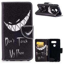 Crooked Grin Leather Wallet Case for LG V30
