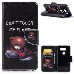 Chainsaw Bear Leather Wallet Case for LG V30