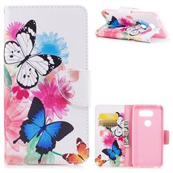 Vivid Flying Butterflies Leather Wallet Case for LG V30