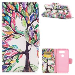 The Tree of Life Leather Wallet Case for LG V30