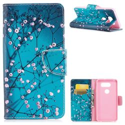 Blue Plum Leather Wallet Case for LG V30