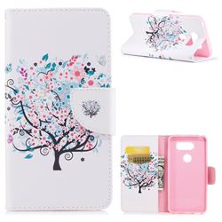Colorful Tree Leather Wallet Case for LG V30