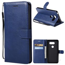 Retro Greek Classic Smooth PU Leather Wallet Phone Case for LG V30 - Blue