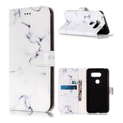 Soft White Marble PU Leather Wallet Case for LG V30